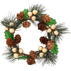 クリスマスリース クリスマス リース ミニリース パイン ゴールド|bestline
