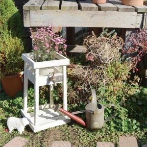 蛇口プランター アンティーク風 フラワースタンド プランター 花台 鉢置き ディスプレイ ガーデンプランター|bestline