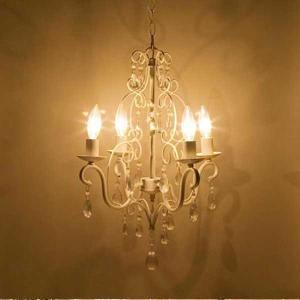 シャンデリア ヨーロッパ風 4灯シャンデリア ロメオ Cream ランプ ライト おしゃれ|bestline