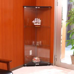 ガラスコレクションケース ディスプレイ 角 コーナー 収納棚 コレクションボックス フィギア ケース...