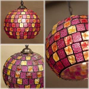 Atelier Glass Lamp ヨーロピアンテースト アトリエグラス ランプ バルーンPINK MULTI|bestline