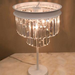 テーブルランプ 3灯 テーブルスタンド ベッドサイドランプ 寝室 リビング 照明 レトロ クラシック アンティーク おしゃれ クリスタル|bestline
