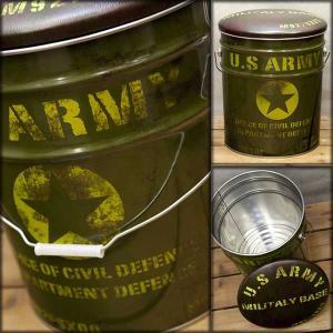 ペール缶 クッション ペール缶スツール US ARMY 椅子 いす イス スツール|bestline