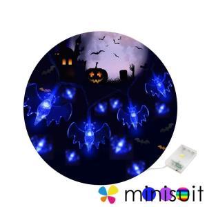 ハロウィン 飾り コウモリ 蝙蝠 電池式 2M 20球 2モード点灯 イルミネーション