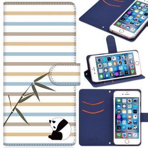 iPhone XS MAX ケース 手帳型 カバー スタンド機能 カードホルダ付き 可愛いパンダ X...