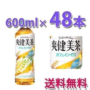 コカ・コーラ社製品 爽健美茶 600mlPET ペットボトル 2ケース 48本|bestone1