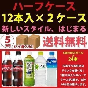 コカ・コーラ社製品 500mlペットボトル 12本入り よりどり 2ケース ハーフケース 24本 セット コカコーラ アクエリアス|bestone1
