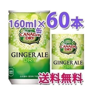 コカ・コーラ社製品 カナダドライジンジャエール160ml缶  炭酸飲料 2ケース 60本|bestone1