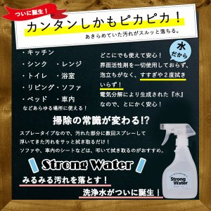 Strong Water 強アルカリイオン電解水 イオン電解水 アルカリ電解水 300ml 高濃度アルカリ 掃除  消臭 除菌 ストロングウォーター  Ph13.1|bestone1|02