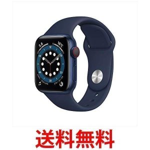 Apple Watch Series 6(GPS + Cellularモデル) 40mmブルーアルミ...