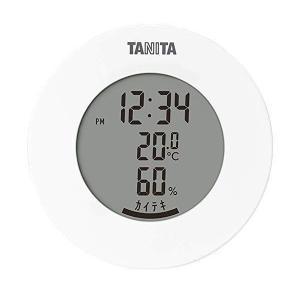 タニタ TT-585 WH ホワイト 温湿度計 温度 湿度 デジタル 時計付き 卓上 マグネット|ベストワン