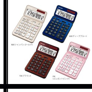 SHARP EL-VN82 電卓50周年記念モデル ナイスサイズモデル シャープ ELVN82 電卓 シャンパンゴールド ディープブルー ブラウン エレガントピンク|1|bestone1|02