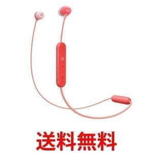 SONY ワイヤレスイヤホン WI-C300-R Bluetooth対応 マイク付き レッド WIC300R|1|bestone1