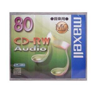 maxell CDRWA80MQ.1TP 音楽用 CD-RW 80分 1枚 10mmケース入 CDRWA80MQ1TP マクセル|1|bestone1