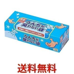クリロン化成 BOS-2191A BOS 驚異の防臭袋 ボス うんちが臭わない袋 SSサイズ大容量 200枚入 ペット用 BOS2191A うんち処理袋 ブル−