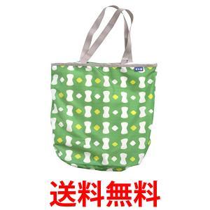 シービージャパン 洗濯 ネット グリーン 柄付き Mサイズ ランドリートート バック型 Kogure