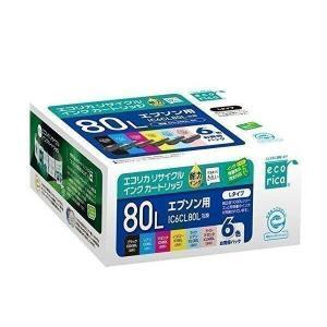 ecorica ECI-E80L-6P エコリカ リサイクルインクカートリッジ 6色セット 互換インク EPSON IC6CL80L対応 ECIE80L|1|bestone1