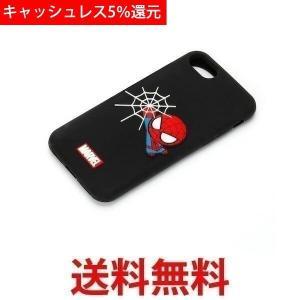 MARVEL iPhone7 ケース シリコンケース PG-DCS158SPM スパイダーマン スマホケース ブラック PGDCS158SPM|1|bestone1