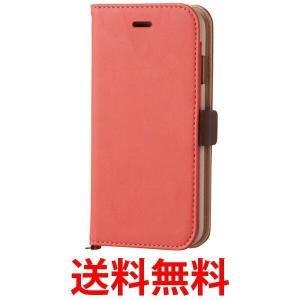 ELECOM iPhone6s/6ケース PM-A15PLFYPN エレコム 手帳型 ソフト レザーカバー レザーケース アイフォンケース シンプル 磁石タイプ サーモンピンク PMA15PLFYP|1|bestone1