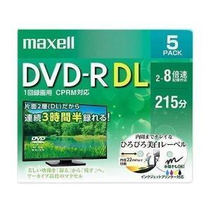 maxell DRD215WPE.5S マクセル 録画用 DVD-R DL 標準215分 8倍速 CPRM プリンタブルホワイト 5枚パック 日立マクセル|1|bestone1