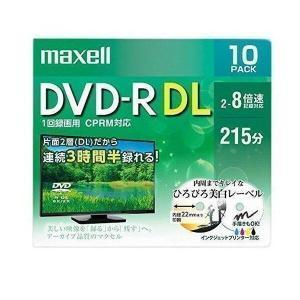 maxell DRD215WPE.10S マクセル 録画用 DVD-R DL 8.5GB 標準215分 8倍速 CPRM プリンタブルホワイト 10枚パック|1|bestone1