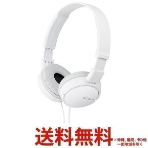 SONY ヘッドホン ZX MDR-ZX110(W) 送料無料