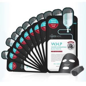 メディヒール W.H.P ホワイトハイドレーティング ブラックマスク EX 1回分×10枚セット 白黒[2470/2487][P2] 郵パケ送料無料|bestone