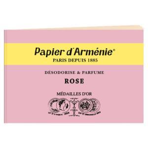 パピエダルメニイ トリプル 3×12枚(36回分) ローズ 紙のお香 インセンス[2529] アロマペーパー PAPIER D'ARMENIE 郵便送料無料 bestone