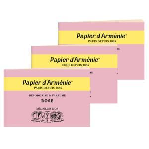 パピエダルメニイ トリプル 3×12枚(36回分) 3個セット ローズ 紙のお香 インセンス[2529] アロマペーパー PAPIER D'ARMENIE 郵パケ送料無料 bestone