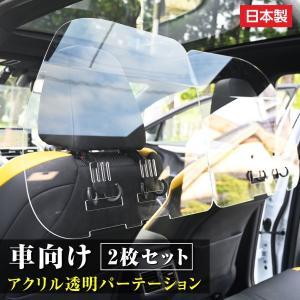 [日本製](2枚1セット)掛け式 車用 パーテーション  車内の飛沫ブロッカー お車に応じた (車向...