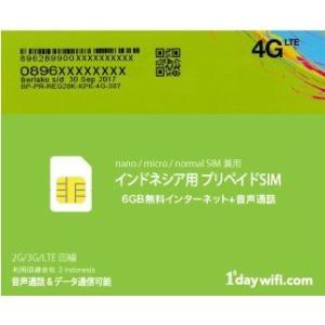 インドネシア(バリ島を含む) 旅行者向け大容量プリペイドSIMカード インターネット6GBまで無料+音声通話 (LTE/3G/GSM回線) 全SIMサイズ対応モデル! [送料無料]|bestsupplyshop