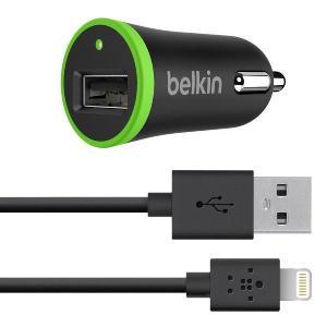 belkin ベルキン iPhone 7/6/SE iPad対応 MFI認証品 高出力2.1A USBカーチャージャー (ライトニングケーブル1.2m付) F8J078bt04-BLK【商品コード 35】|bestsupplyshop