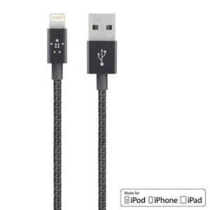 [MFI認証品] belkin ベルキン Mixit↑ USB Metallic Lightning ケーブル/ライトニングケーブル メタリックブラック1.2m  for iPhone7(Plus),6S/6等 bestsupplyshop