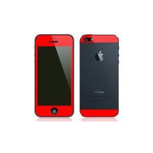 iPhone5用 両面 カスタムデザイン液晶フィルム シール(レッド)|bestsupplyshop
