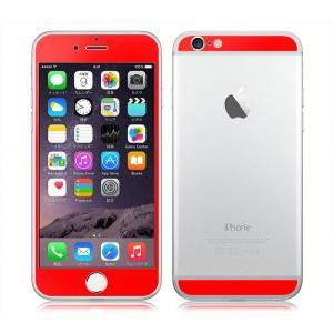 iPhone6/6s iPhone 6/6s Plus用 両面 カスタムデザイン液晶フィルム シール(レッド)|bestsupplyshop