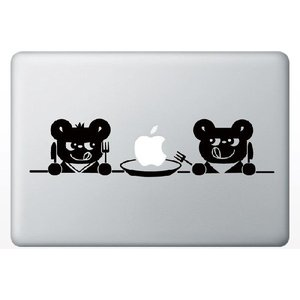 MacBook Air/Pro 13インチ用背面デザインステッカー「2匹のくま」|bestsupplyshop