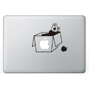 MacBook Air/Pro 13インチ用背面デザインステッカー「りんご箱の中のリス」|bestsupplyshop