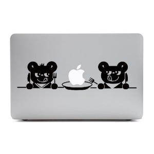 MacBook Air11インチ用背面デザインステッカー「2匹のくま」|bestsupplyshop