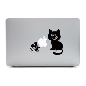 MacBook Air11インチ用背面デザインステッカー「猫とねずみ」|bestsupplyshop