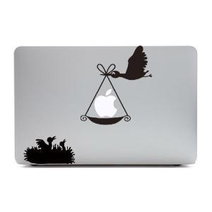 MacBook Air11インチ用背面デザインステッカー「りんごを運ぶ鳥」|bestsupplyshop