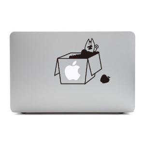 MacBook Air11インチ用背面デザインステッカー「りんご箱の中のリス」|bestsupplyshop
