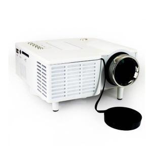 [送料無料] iPhone,iPad対応 LED小型ポータブルプロジェクター UC28 HDMI/AV/USB/SD/VGA対応 -白ホワイト [商品番号:140]|bestsupplyshop