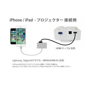 [送料無料] iPhone,iPad対応 LED小型ポータブルプロジェクター UC28 HDMI/AV/USB/SD/VGA対応 -白ホワイト [商品番号:140]|bestsupplyshop|04