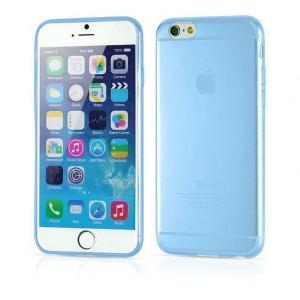 iPhone6/6s Plus用(5.5インチ) 0.3mmプレミアムTPUケース 半透明ソフトケース (青色 ブルー)|bestsupplyshop