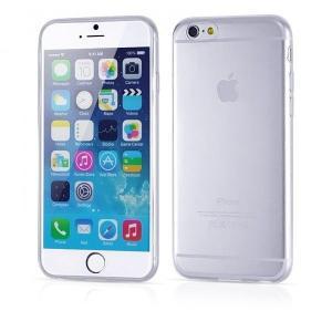 iPhone6/6s Plus用(5.5インチ) 0.3mmプレミアムTPUケース 半透明ソフトケース (透明 クリア)|bestsupplyshop