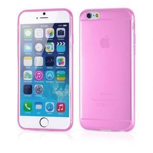 iPhone6/6s Plus用(5.5インチ) 0.3mmプレミアムTPUケース 半透明ソフトケース (ピンク)|bestsupplyshop