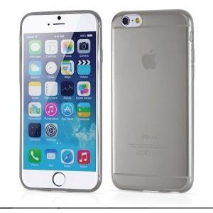 iPhone6用(4.7インチ) 0.3mmプレミアムTPUケース 半透明ソフトケース (黒色 ブラック)|bestsupplyshop