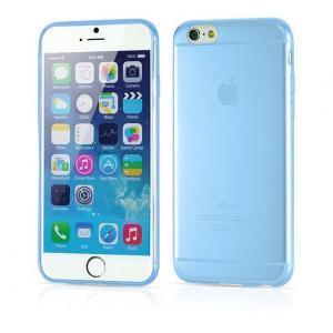 iPhone6s/6用(4.7インチ) 0.3mmプレミアムTPUケース 半透明ソフトケース (青色 ブルー)|bestsupplyshop