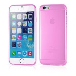 iPhone6/6s用(4.7インチ) 0.3mmプレミアムTPUケース 半透明ソフトケース (ピンク)|bestsupplyshop