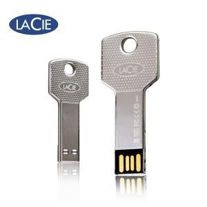 LaCie iamakey v2 USB 2.0 Flash Drive USBメモリー 8GB メタルシルバー (プラケースパッケージ無) / 送料無料|bestsupplyshop